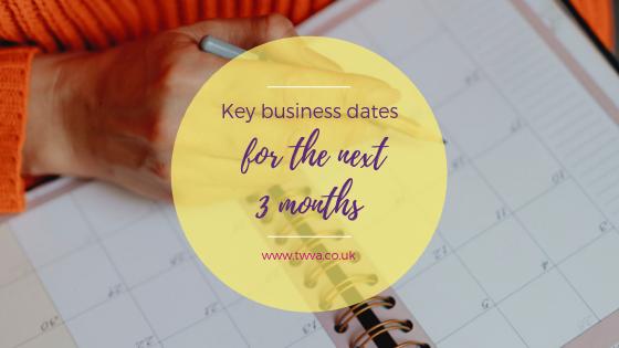 Key business dates